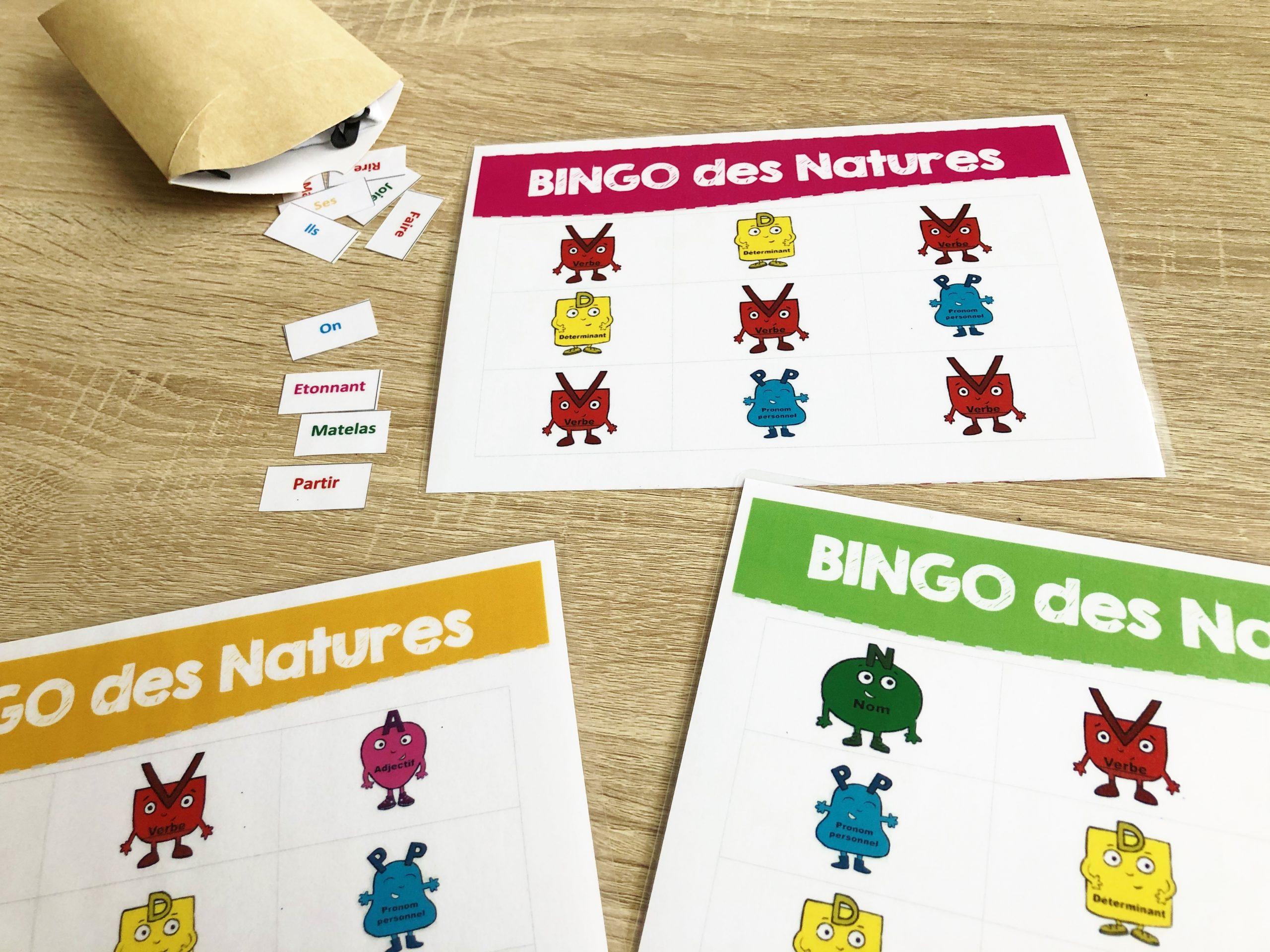 Bingo des natures
