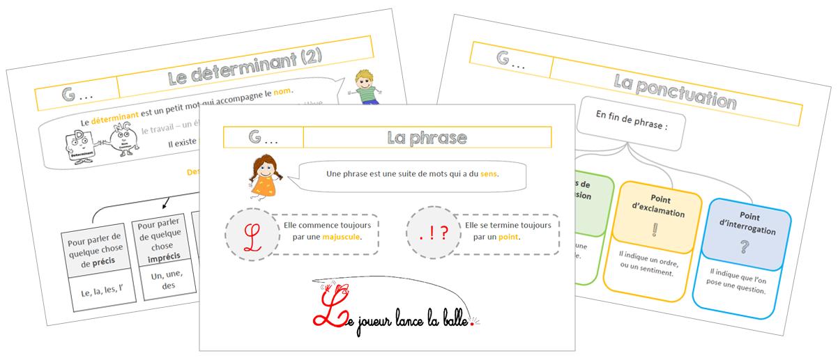 Leçons de Français au CE1