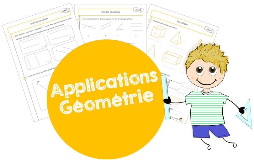 Fiches d'application – Géométrie !