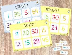 Bingo des multiplications !