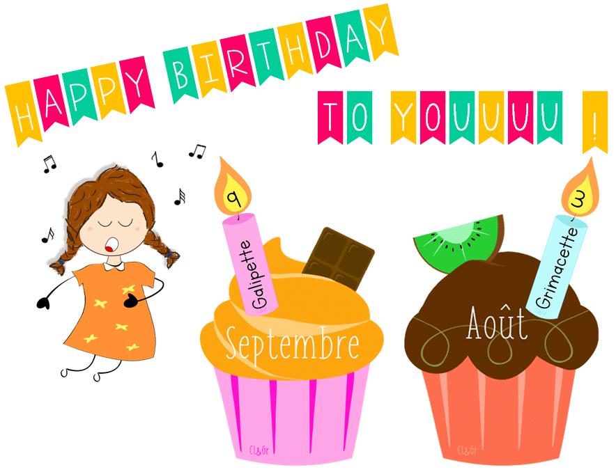 Affichage – CupCakes des anniversaires !