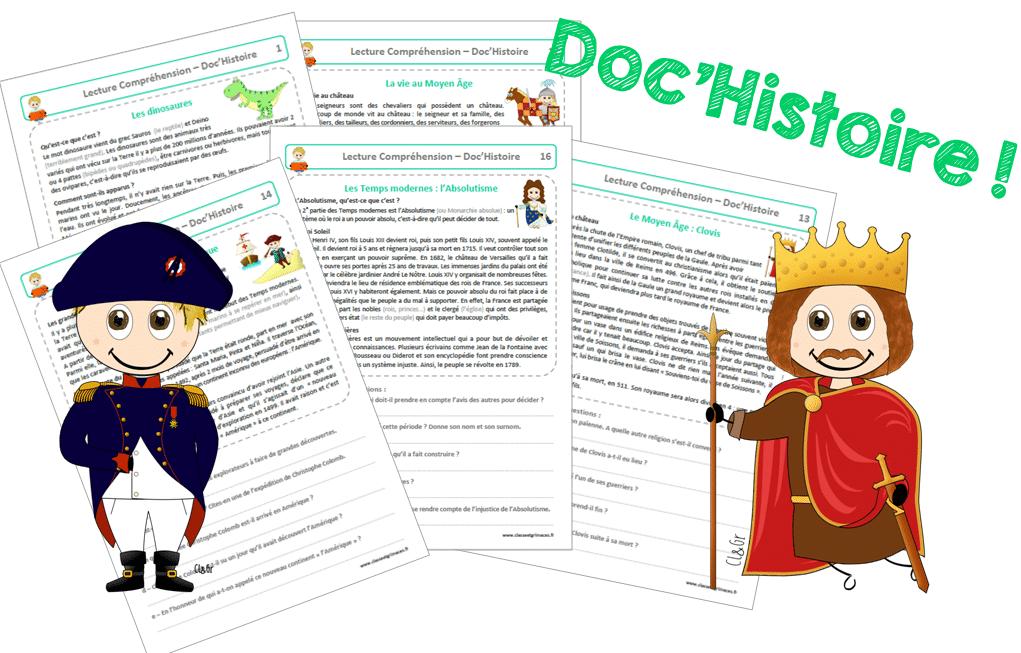 Lecture compréhension : les Doc'Histoire !