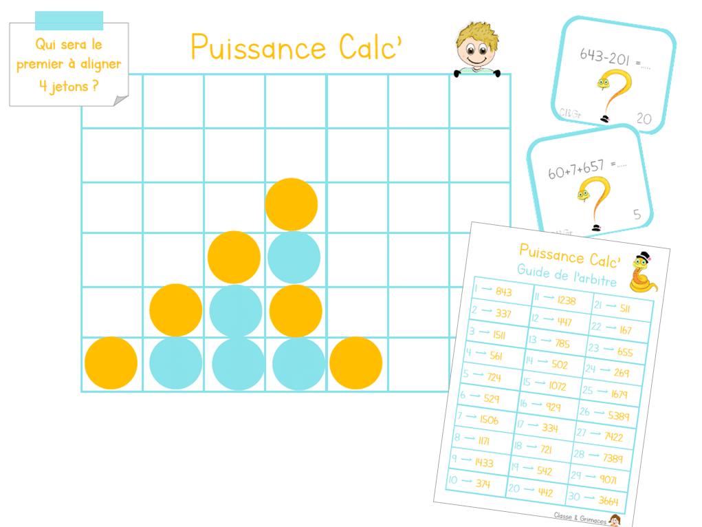 Puissance Calc' : Le puissance 4 version calcul !