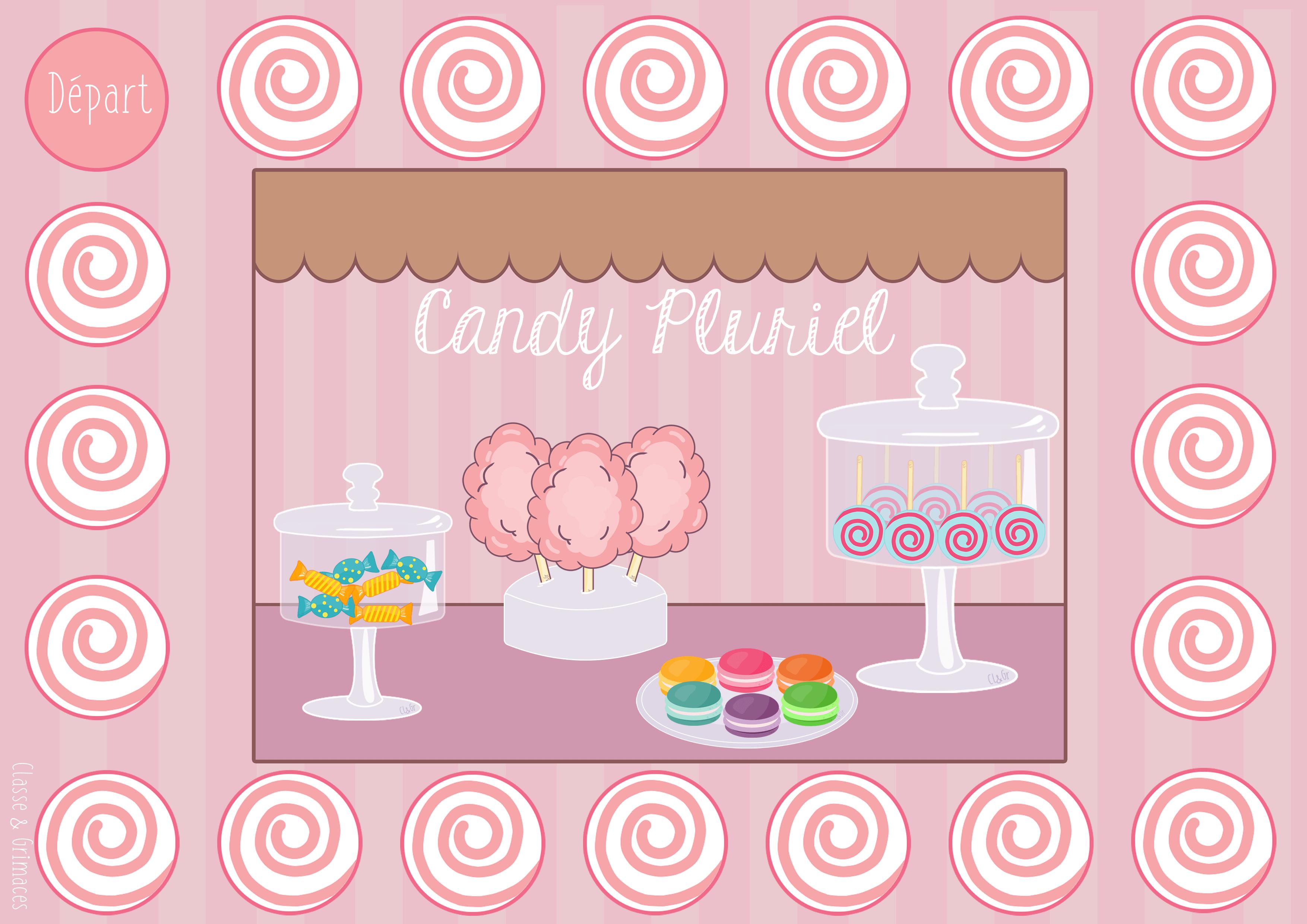 Atelier pluriel des noms – Candy Pluriel !