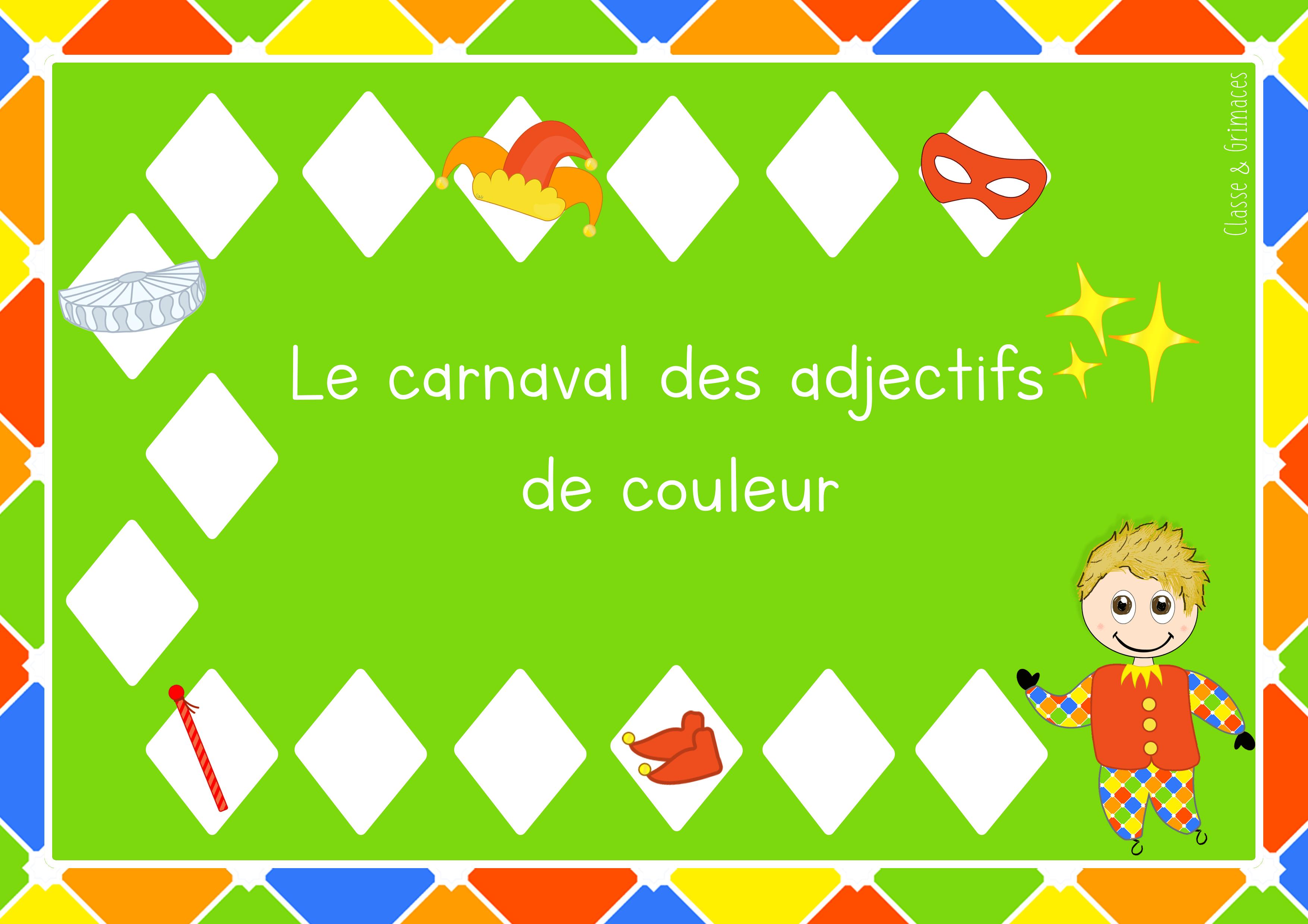 Atelier – Carnaval des adjectifs de couleur