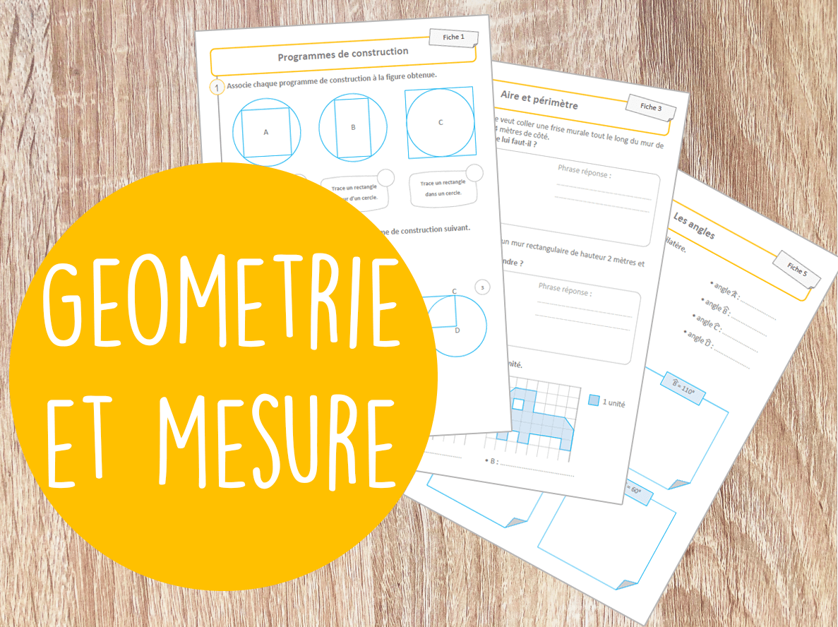 You are currently viewing Fiches d'application – Géométrie Mesure – Cycle 3